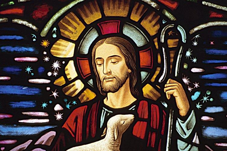 El bastón del pastor aparece con frecuencia en la iconografía cristiana.