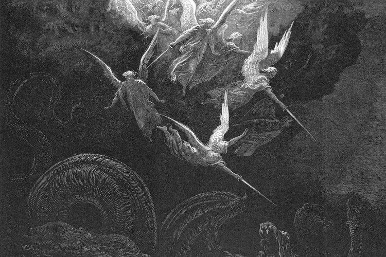 Miguel y sus ángeles arrojaron al dragón del cielo.