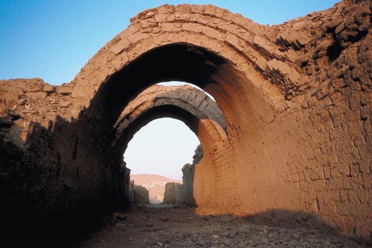 Los ladrillos de barro eran una mezcla de barro y paja secada al sol.