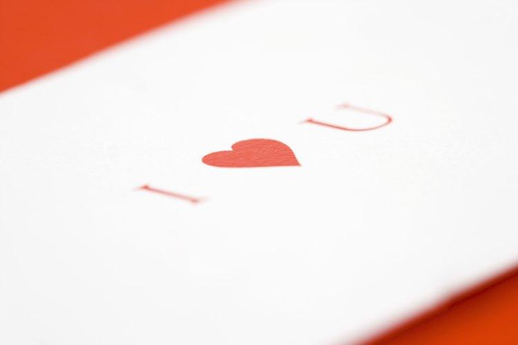 Una carta de amor es una buena manera de disculparse.