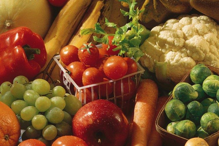 Frutas y vegetales.