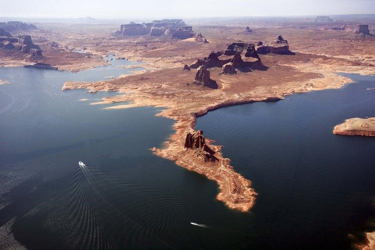 El Lake Powell es el segundo lago más grande hecho por el hombre en Estados Unidos.