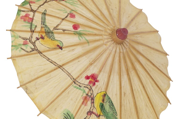 Los paraguas orientales están entre los más decorativos del mundo.