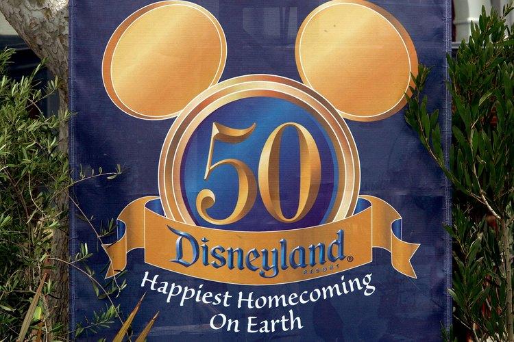Letrero de Disneylandia en California.
