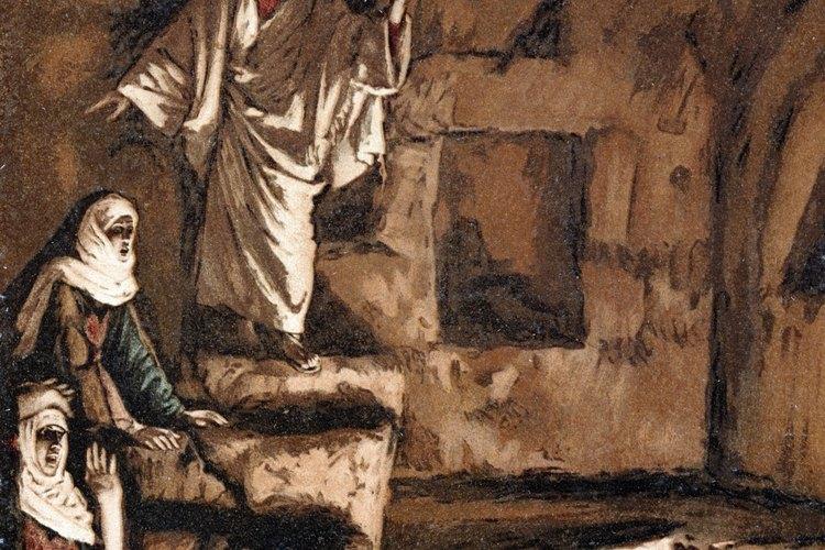 Crea una manualidad ilustrando a Jesús regresando a la vida al hermano de María y Marta.