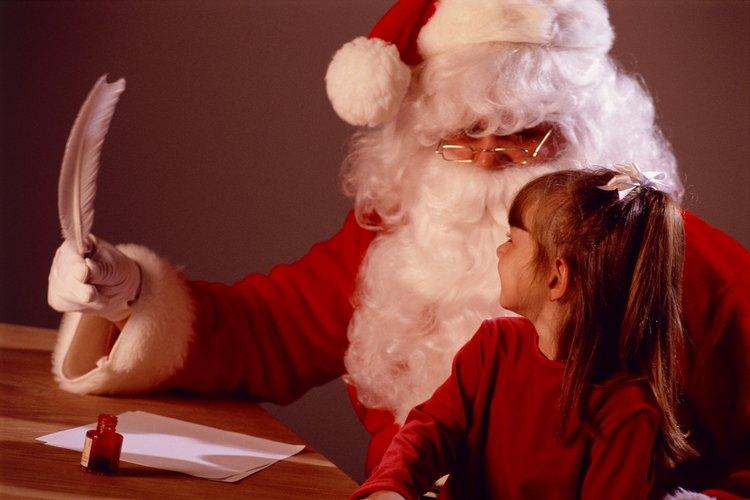 Los niños pequeños usualmente quieren quedarse en la lista de niños buenos de Santa.
