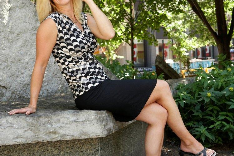 Puedes agregar una cintura elástica a cualquier estilo de falda para tu comodidad.