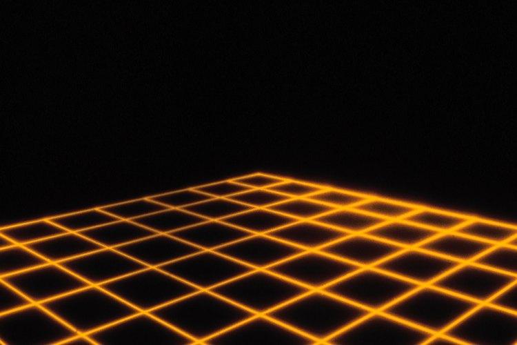 Cada cuadrado está construido conectando segmentos de línea.