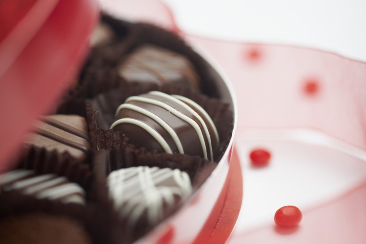 Caja de chocolates para el día de San Valentín.