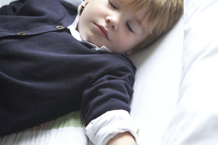 Algunos niños se resisten a las siestas.