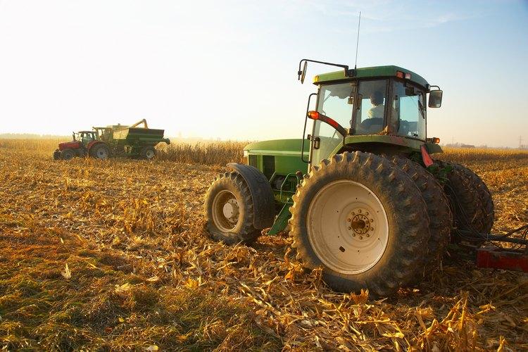 Un tractor.