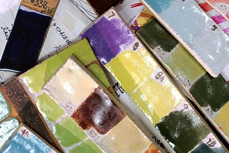 Colores de pintura.