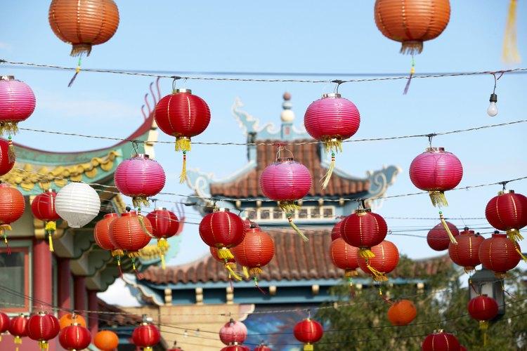 El simbolismo de los faroles de papel es una parte del feng shui.