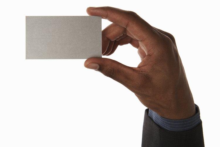 La etiqueta para las tarjetas de negocios es precisa.