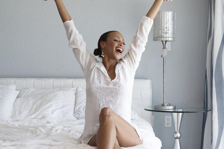 Una mujer se siente libre viviendo sola.
