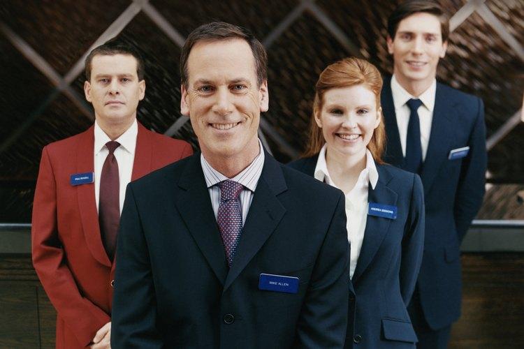 El personal de gestión de un hotel.