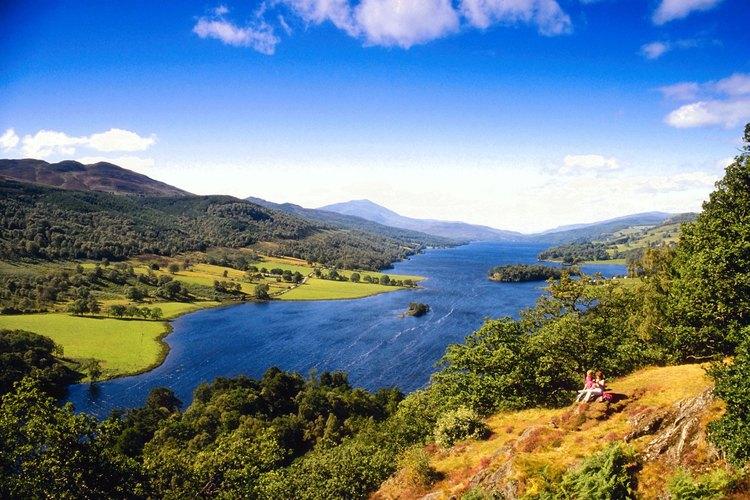 Vista del Loch Tummel cerca de Pitlochry-
