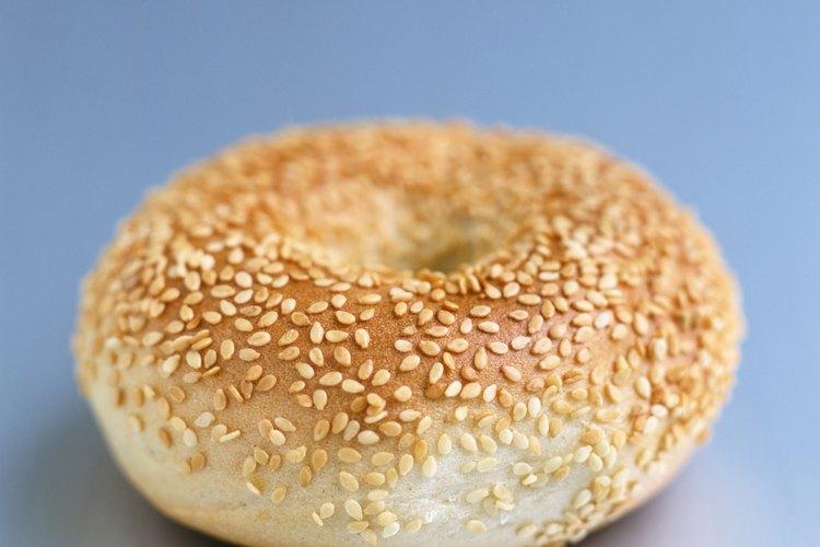 Las semillas de sésamo blanco suelen verse en panes.