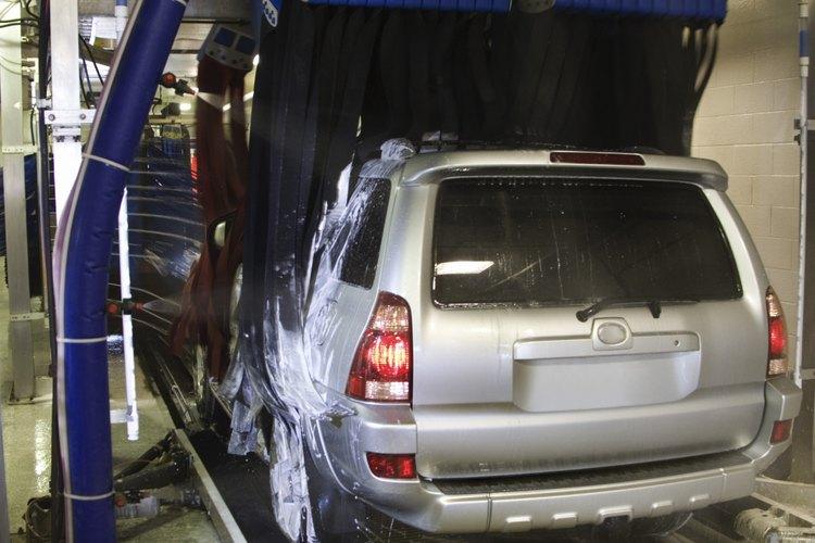 Lavado de automóviles.