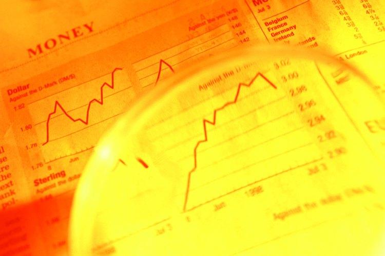 Los números en una bolsa de valores ilustran la salud de las acciones individuales.