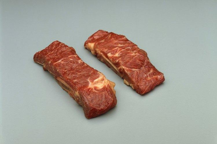 Grandes cantidades de veteado indican un corte de alta calidad de la carne.