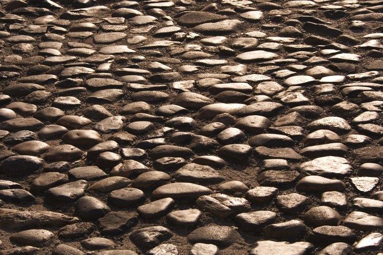 Los adoquines naturales fueron utilizados para pavimentar carreteras.