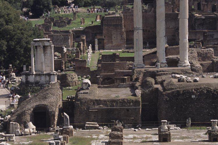 Los restos del Foro Romano.