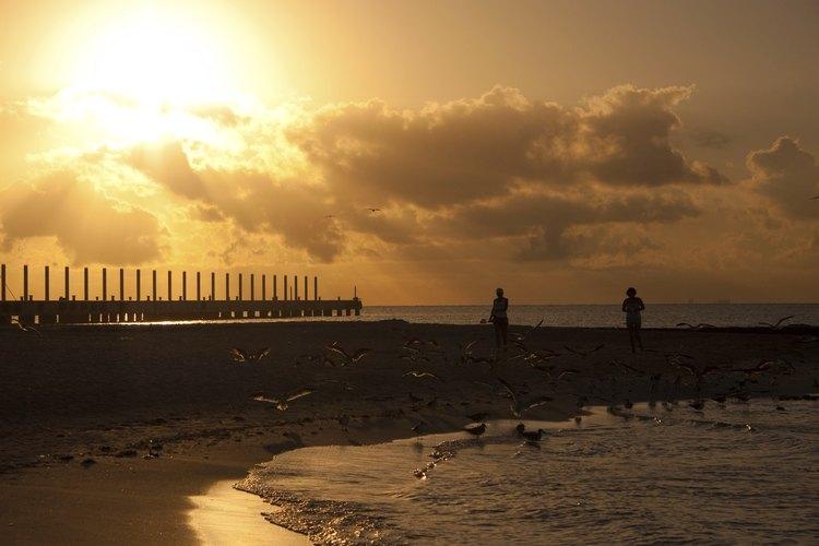 Amanecer en las playas mexicanas.