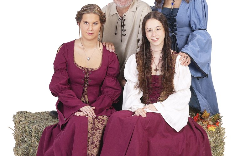 La vestimenta medieval variaba según la clase y el estatus social.