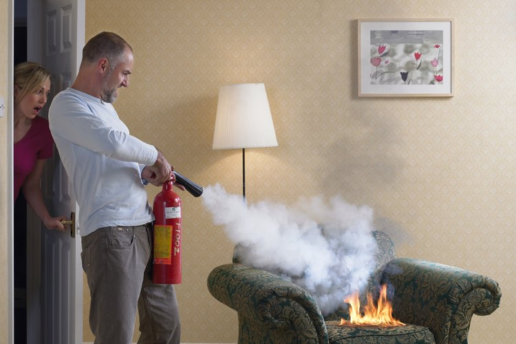 Selecciona un extintor que funcionará correctamente en la habitación que lo requiera.