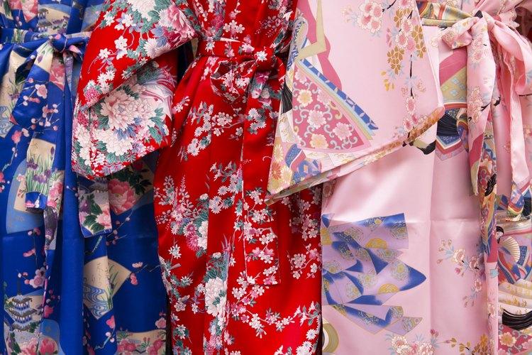 Las telas japonesas utilizan colores favorables.