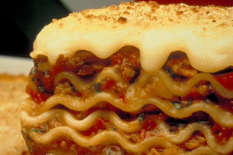 La lasaña puede ser deliciosa sin el queso ricota.