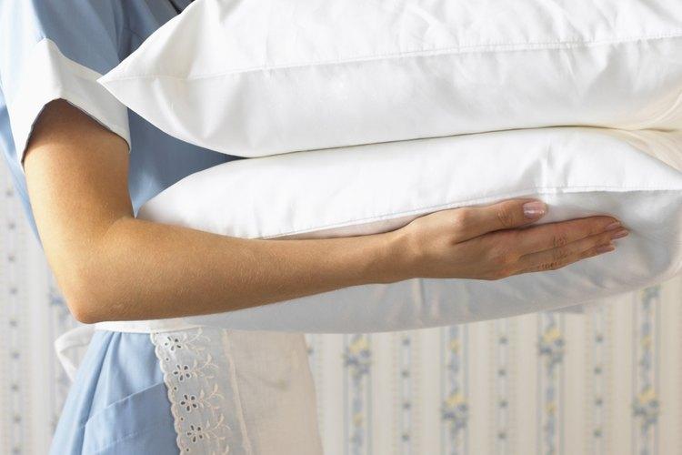 La mayoría de las almohadas pueden ser lavadas y secadas.