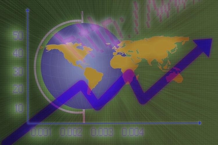 Flecha ascendente que indica el aumento de la población mundial.