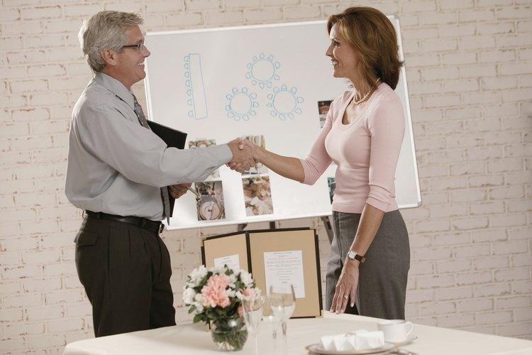 Planificador de boda y el cliente