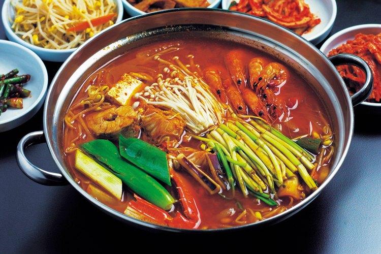 Las tortas de arroz coreanas son utilizadas en una variedad de sopas y entradas.
