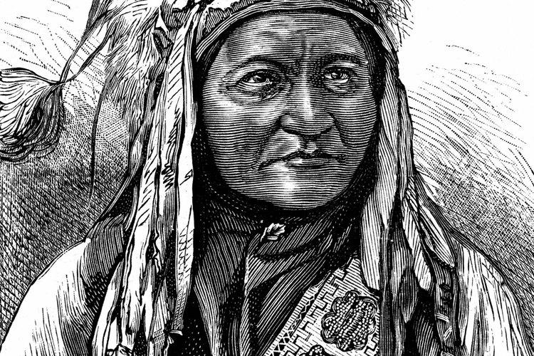 El líder sioux Toro Sentado visto por un artista.