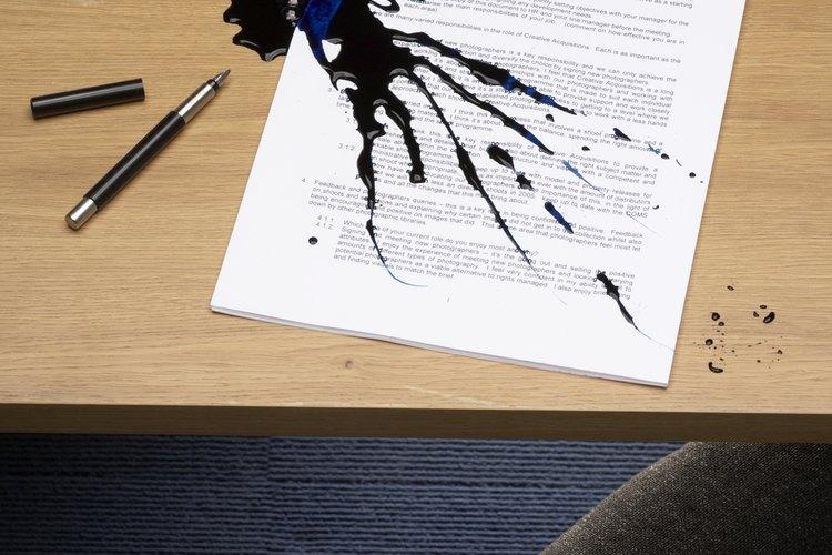 La tinta contiene altos niveles de colorante y es difícil de eliminar.