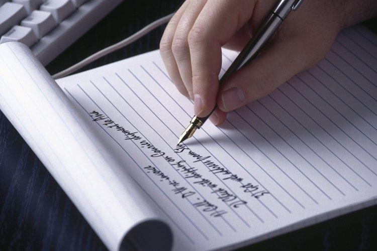 Haciendo una lista de cosas positivas.