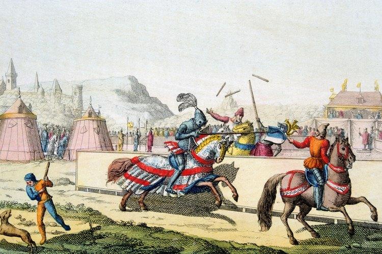 Los torneos les permitían a los caballeros mostrar su habilidad en la equitación.
