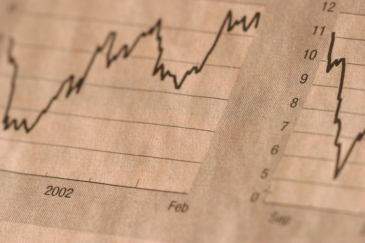 Las gráficas lineales se utilizan con frecuencia para mostrar las tendencias en el mercado de las acciones.