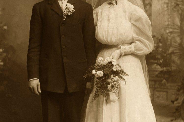 EL vestido de boda blanco no se volvió popular sino hasta 1840.