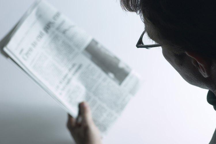 La mayoría de los diarios usan una versión de la tipografía times.