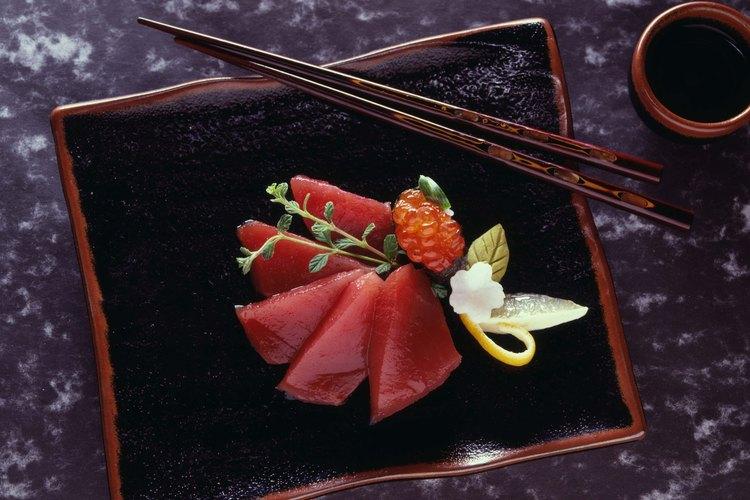 Sashimi de atún.