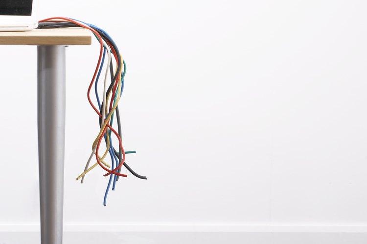 Los cables tienen colores específicos para hacer más fácil su identificación.