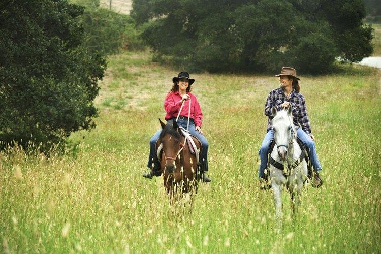 Ten otro par de ojos en tu caballo cuando vayas a montar para agregar perspectiva.
