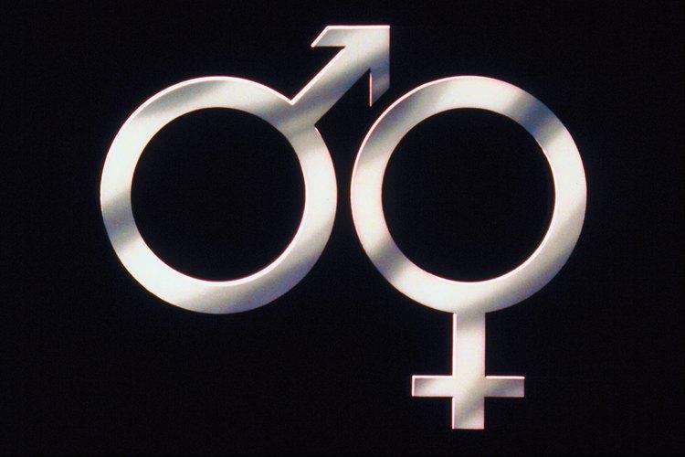 Símbolos astrológicos de hombres y mujeres.