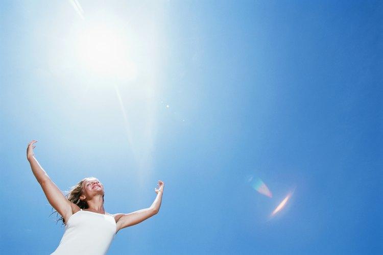 El sol es un blanqueador natural.