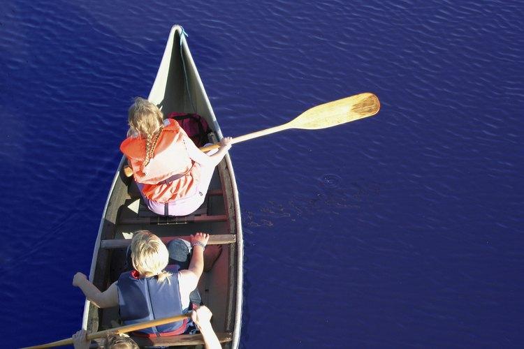 Explora las calas y ensenadas en canoa en uno de los estanques de Harold Parker State Forest.
