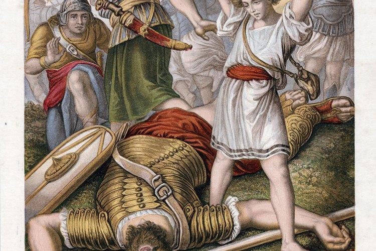 Las actividades divertidas ayudan a los niños a aprender sobre David y Goliat
